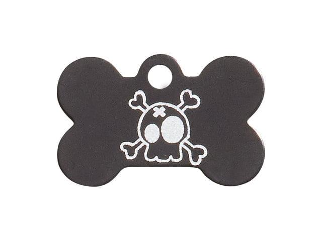 iMARC Large Black Circle, Cartoon Style Skull & Crossbones