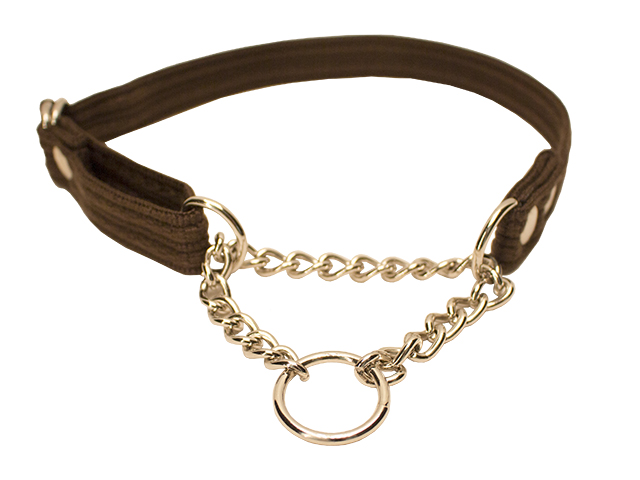 Fenriz halsbånd m kæde, brun