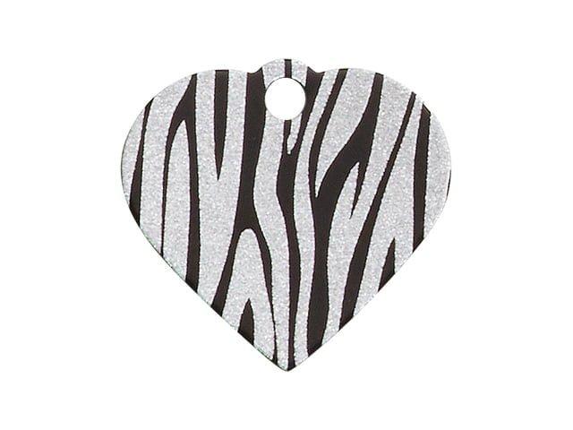 iMARC hjerte zebra stripes, sort