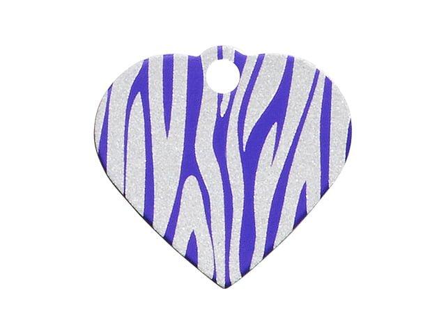 iMARC hjerte zebra stripes, lilla