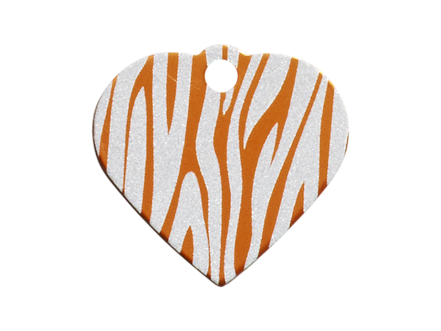 iMARC hjerte zebra stripes, orange