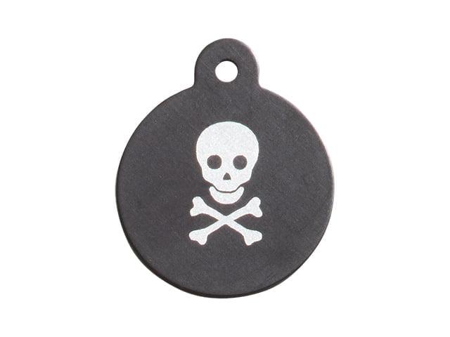 iMARC Large Black Circle, Pirate Style Skull & Crossbones