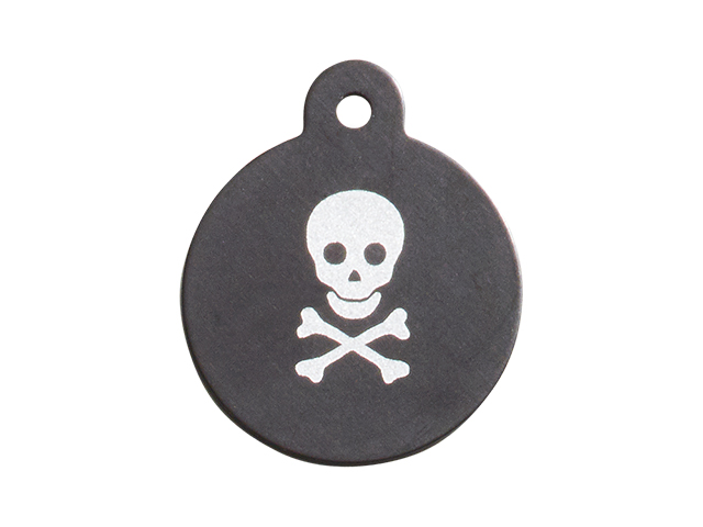 iMARC Small Black Circle, Pirate Style Skull & Crossbones