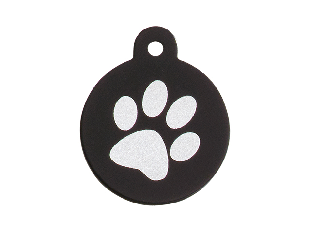 iMARC cirkel single paw print, sort