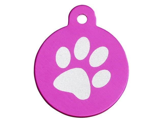 iMARC cirkel single paw print, pink