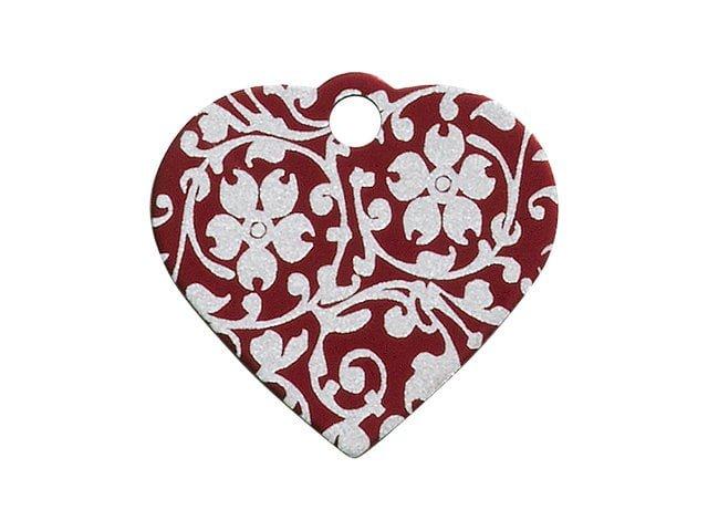 iMARC hjerte ornate flower, rød