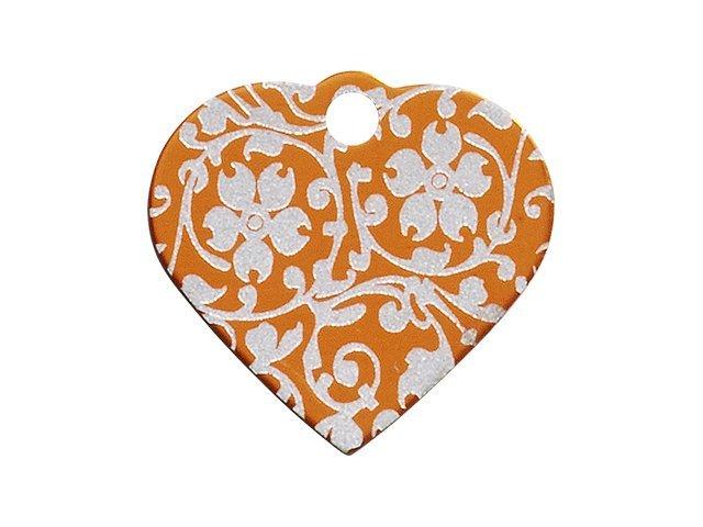 iMARC hjerte ornate flower, orange