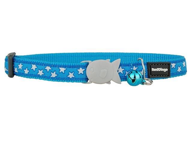 Red Dingo kattehalsbånd, turkis med stjerner