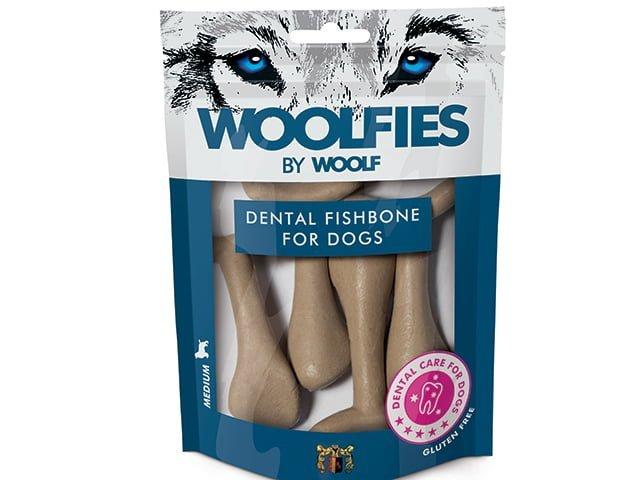 Woolfies Dental Fishbone Medium 200g