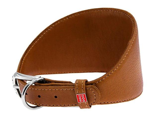 Waudog Soft greyhound collar, brown