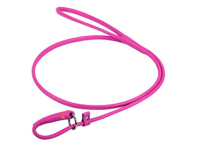 Waudog rundsyet læder udstillingsline, pink