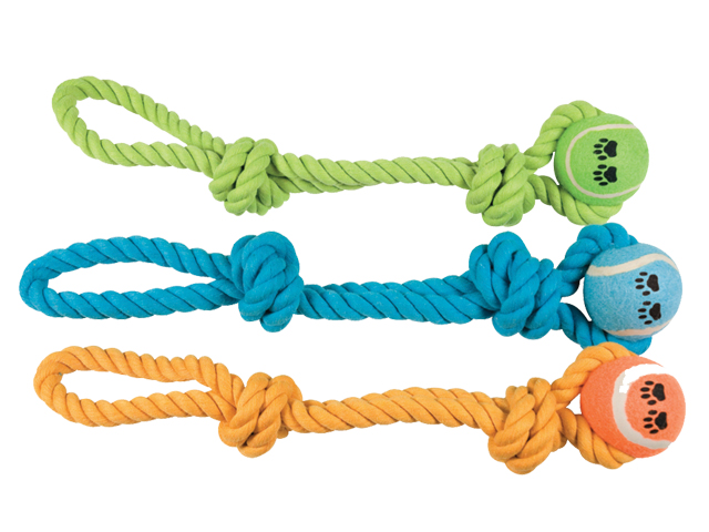 NYC Dental rope with knots & ball, 45cm