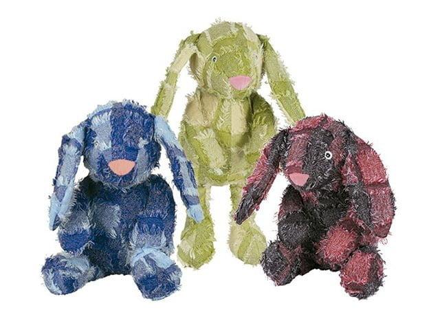 NYC 'rag rug' rabbit, 25cm