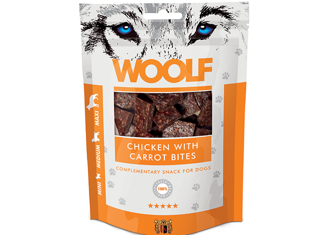 Woolf Chicken with Carrots Bites 100g