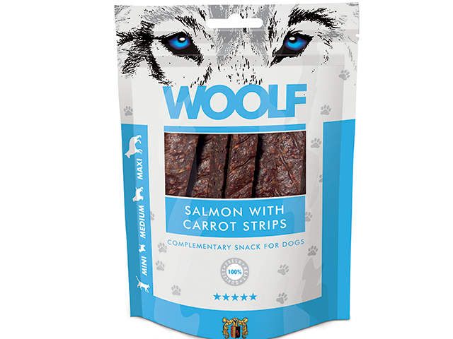 Woolf Salmon with Carrots Strips 100g