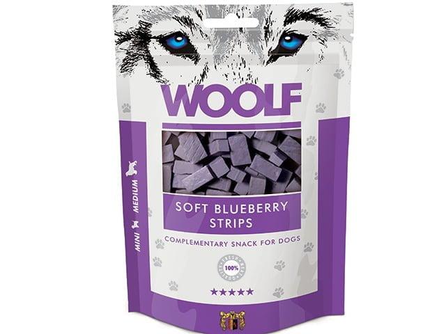 Woolf Soft Blueberry Strips 100g