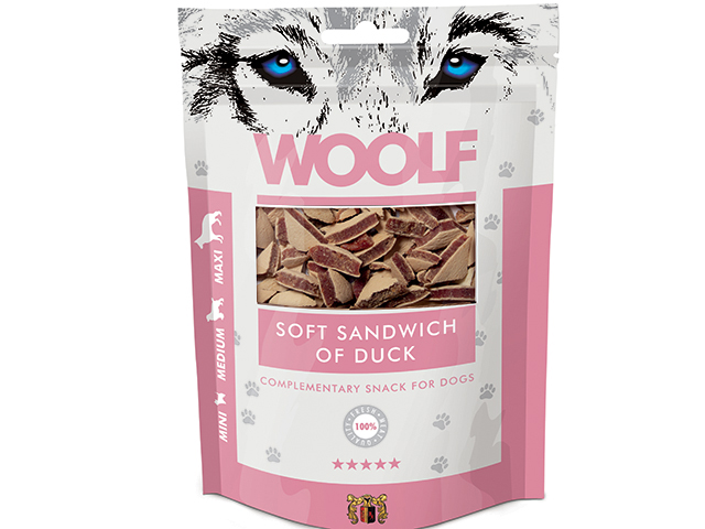 Woolf Soft Sandwich of Duck 100g