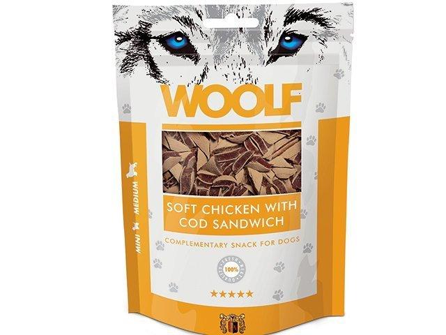 Woolf Soft Chicken with Cod Sandwich 100g