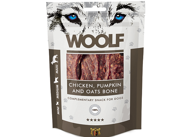 Woolf Chicken Pumpking & Oats Bone 100g