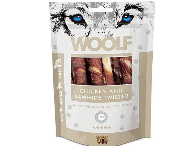 Woolf Chicken & Rawhide Twister 100g