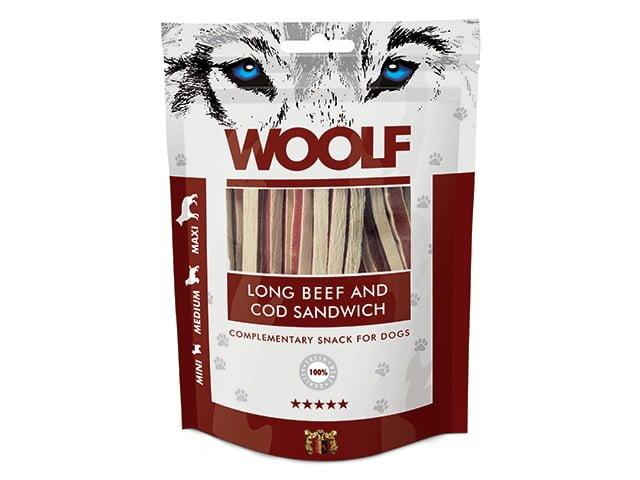 Woolf Long Beef & Cod Sandwich 100g