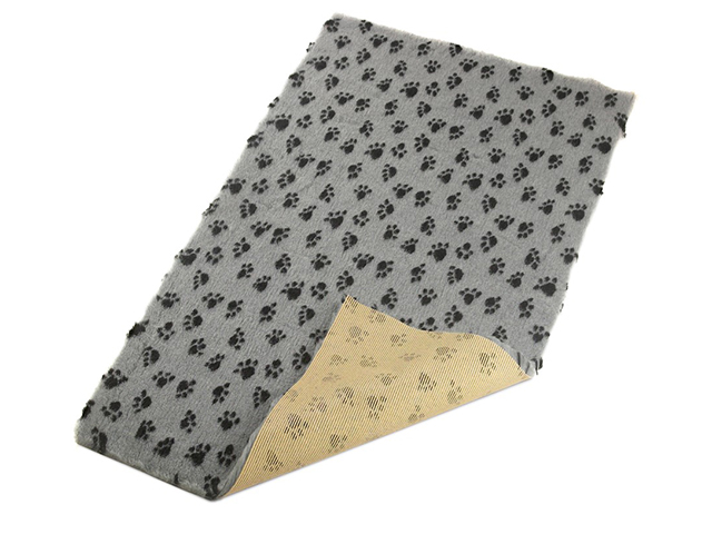 Vet Bed non-slip, 100x150cm, gray with black paw