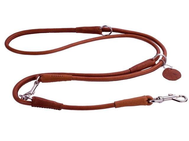 Waudog Soft rundsyet læder dressurline, brun