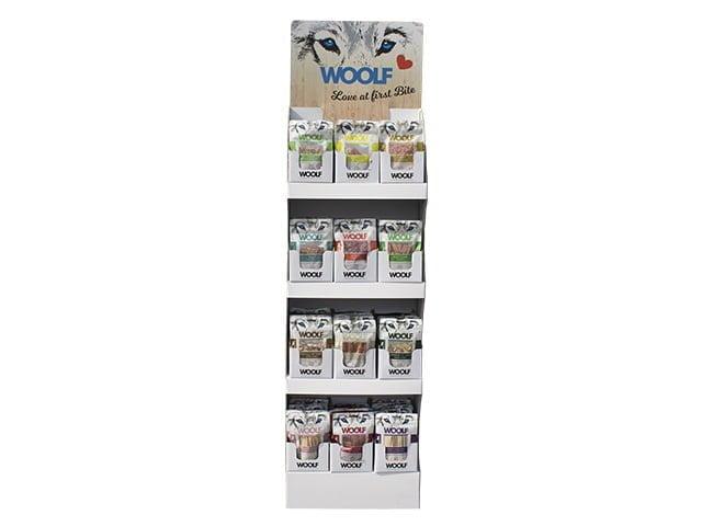 Woolf Display med 12 kasser snacks