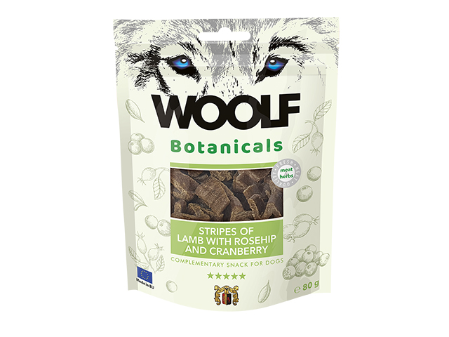 Woolf Botanicals Lams Stripes with rosehip and cranberry, 80g