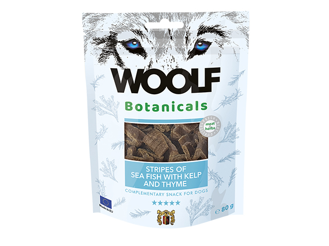 Woolf Botanicals Seafish Stripes with kelp & thymes, 80g