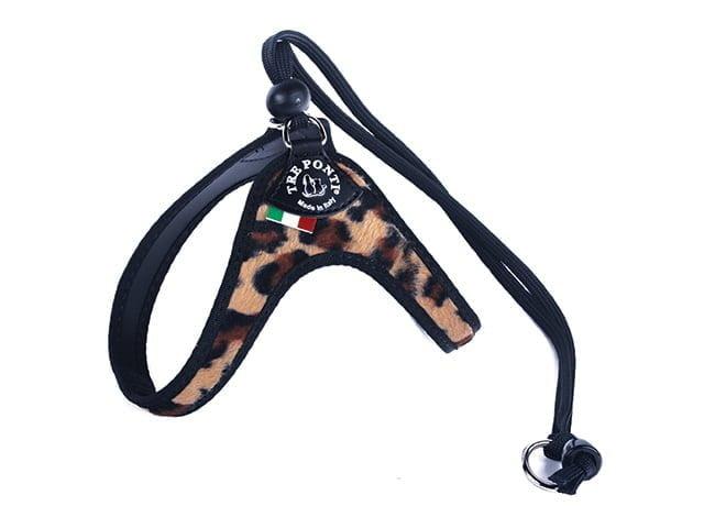TRE PONTI Sele med strop, leopard