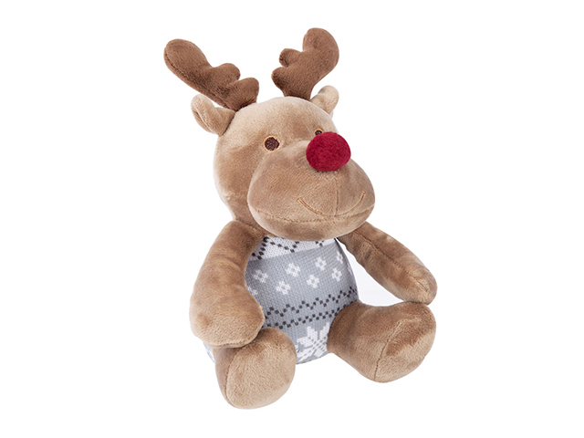 Scruffs Santa Paws tæppe + rensdyr gavesæt, grå