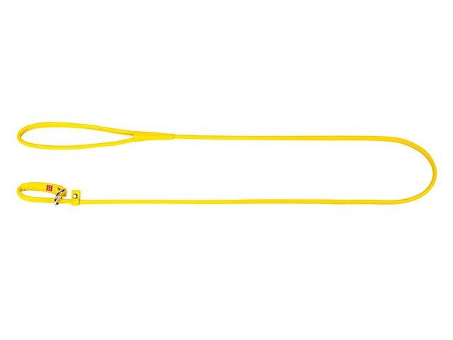 Waudog rundsyet læder udstillingsline, 135cm/6mm, gul