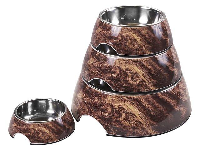 Royal skål rund, brun marmor