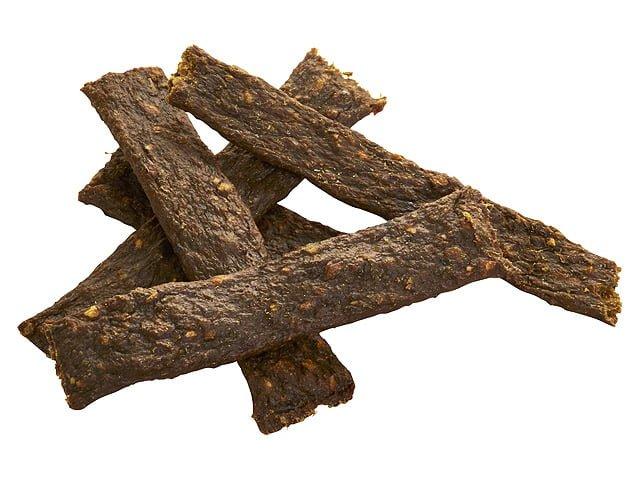 Tikki Meatstrips med and, 100g