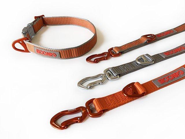 Siccaro Sealines halsbånd, silver/orange